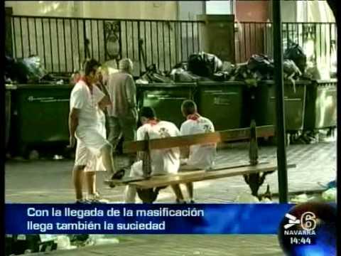 SAN FERMÍN 2009 - MUERE UN CORREDOR EN EL ENCIERRO - 11 JULIO 09 - CANAL 6 NAVARRA- 11 JULIO 2009