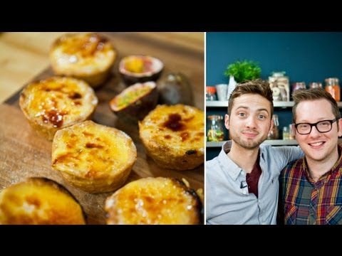 Passionfruit & Caramelised Banana Tarts - Spotlight: Edd Kimber