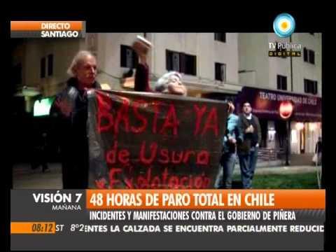 Visión Siete: Segundo día de paro total en Chile