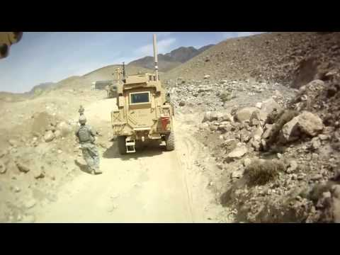 Airforce Jet chasing UFO Flying over Convoy in Afghanistan