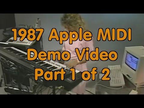 1987 Apple Computer Reseller Training Video - Apple MIDI Interface - First Half
