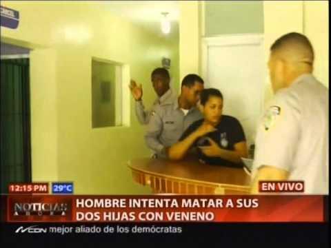 Hombre intenta matar a sus dos hijas dándole…