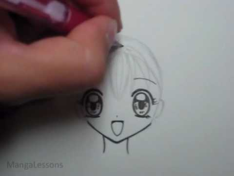 How to Draw Manga Hair: Small Pigtails