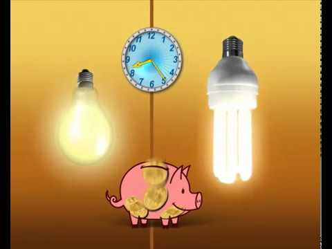 мультик про энергосберегающую лампу