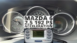 Mazda 6 2.5 192 KM - acceleration 0-100 km/h