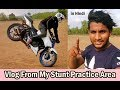Extreamly Dangerous Stunt Practice On Dusty Surface - My Vlog 02