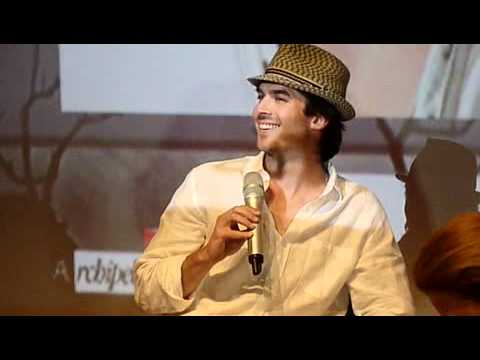 Ian Somerhalder Convention Vampire Diaries Welcome to Mystic Falls Q&A Paris May 21st 2011 Part 2
