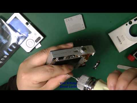Reparatur Kameras Canon IXUS 70 -Display Umtausch - camera Replace or Repair- Display change