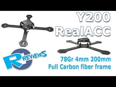 Y200 200mm Realacc 4mm Full Carbon fiber 78gr racer drone frame - UCv2D074JIyQEXdjK17SmREQ