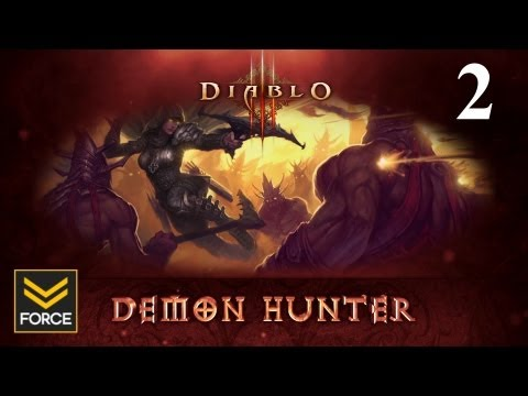 Diablo 3 Beta - Demon Hunter Gameplay (Commentary) Part 2