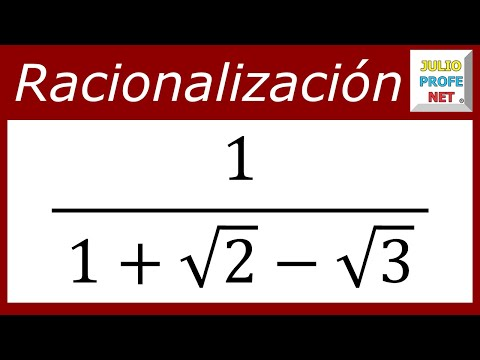 Racionalización con tres términos en el denominador