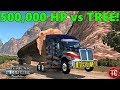 American Truck Simulator: 500,000 Horsepower Pulling HUGE TREE UP MOUNTAIN! Wheelies!?