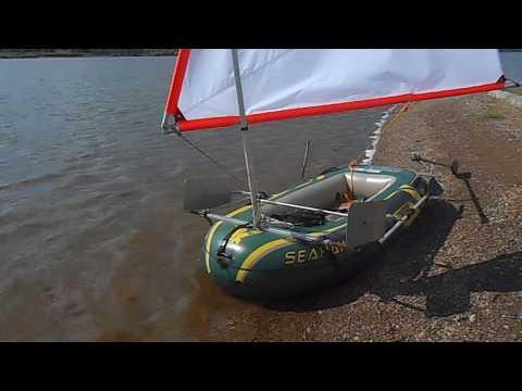 Навесной парус на надувную лодку