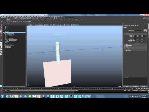 Maya Monday - using nCloth and nHair to hang objects on a rope - Part 1