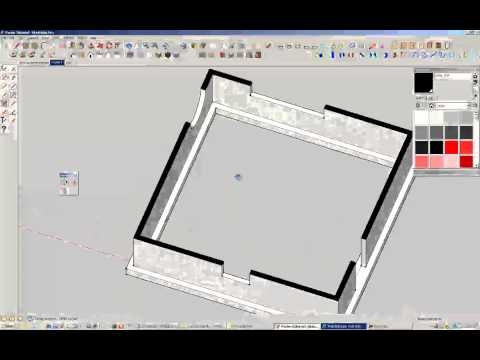 How to Poche in Sketchup (fill inbetween walls)