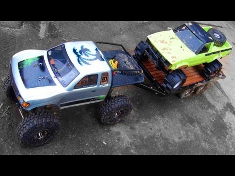 RC ADVENTURES - SCALE TRUCK 4X4 FUN - RUDE BOYZ RC Special !  30 Minutes