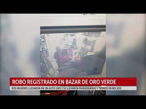 Video: dos mujeres entraron a robar a un bazar y quedaron filmadas
