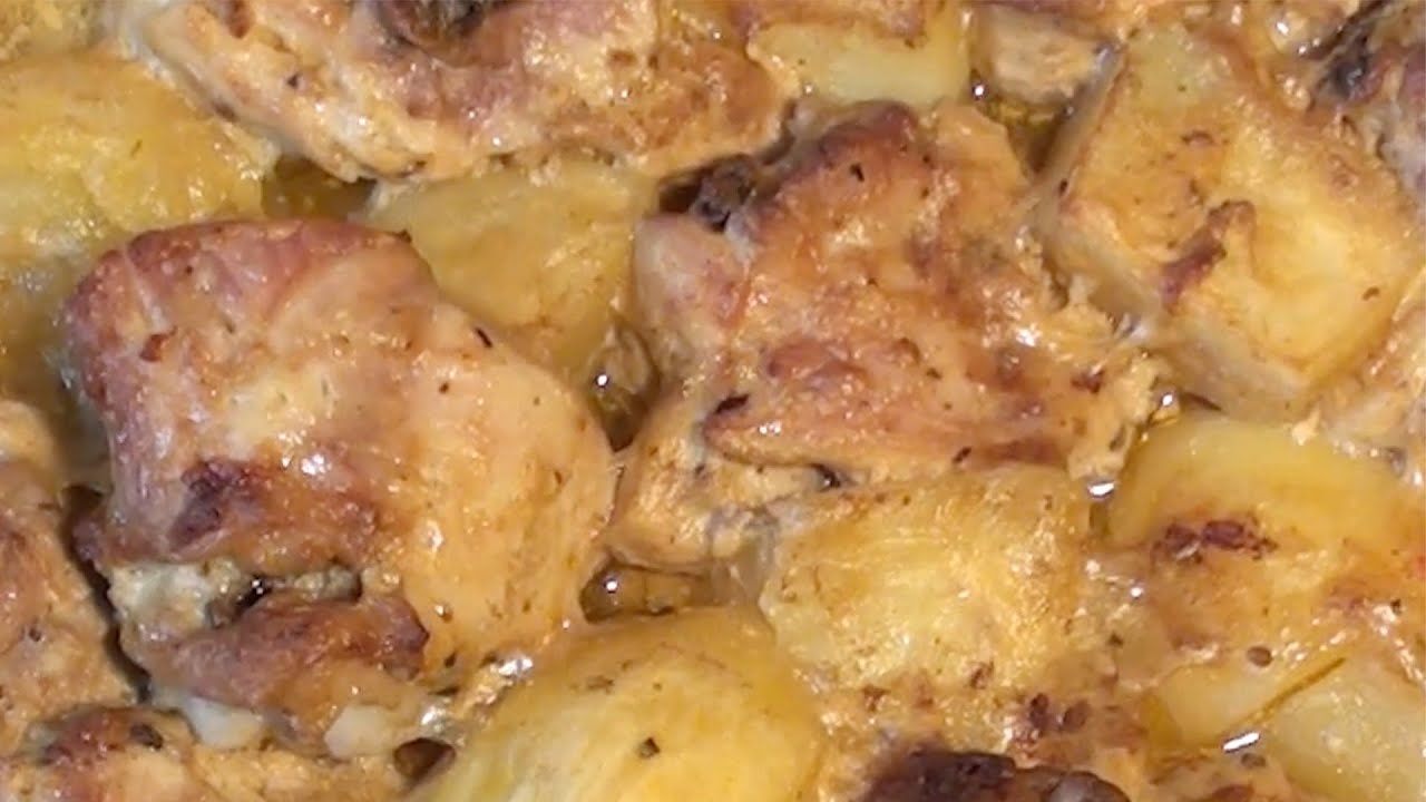 Куриные бедра с картошкой и овощами в духовке рецепты
