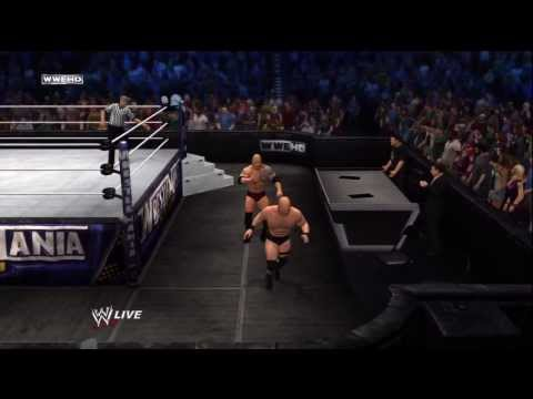 The Rock vs. Stone Cold at Wrestlemania (WWE 12 Gameplay)