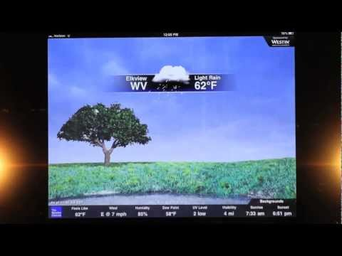 The Weather Channel's New iPad App Demo