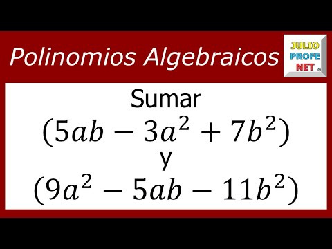 Cómo sumar dos polinomios