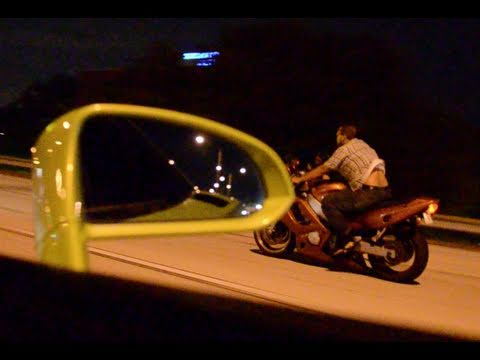 Twin Turbo Lamborghini Gallardo vs Street Bike