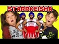kids react to starrkeisha cheer squad (petty dance challenge)