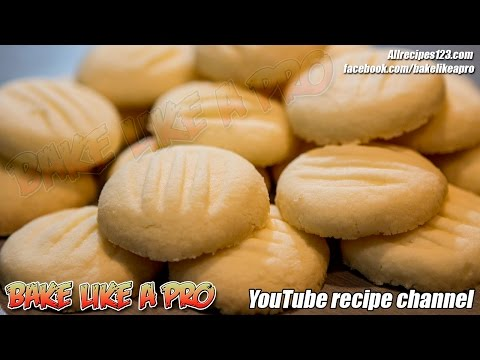 Easy Amazing Butter Cookies Recipe   Shortbread cookies recipe   BakeLikeAPro YouTube channel