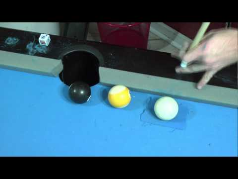 Short Masse, advanced pool shot, advanced pool technique, masse pool shot, masse billiards shots