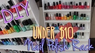 Diy under 10 nail polish rack youtube solutioingenieria Gallery