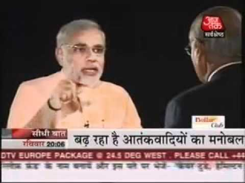 Seedhi Baat with Narendra Modi at Aaj Tak