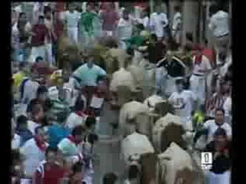 Encierro San Fermin - 14 de Julio de 2008 - TVE