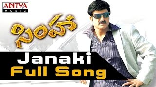 Janaki Full Song - Simha