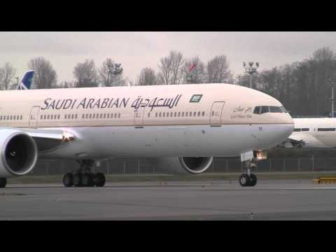 Saudi Arabian Airlines 777 Takeoff