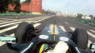 Onboard lap of Moscow city F1 track - Team Lotus & Luiz Razia view on youtube.com tube online.