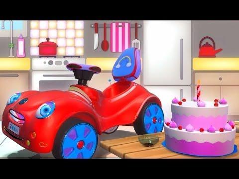 День рожденья - развивающий мультфильм для малышей про машинку - 3D мультфильмы для самых маленьких