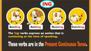 Present Continuous Tense and ING Verbs