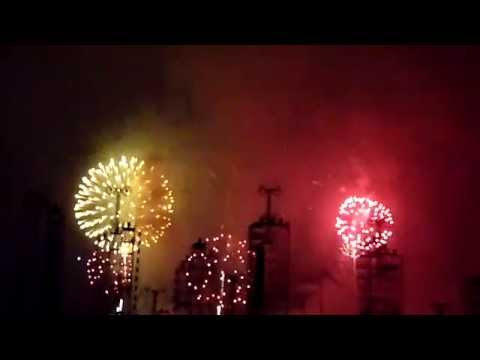 Monaco Albert and Charlene wedding fireworks - Feux d'artifice - 03 jul 2011 (2 of 2)