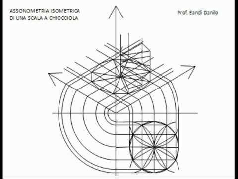 Assonometria isometrica scala a chiocciola