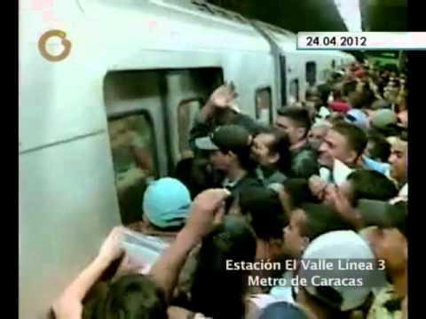 Así es el hacinamiento en el Metro de Caracas