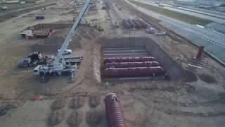 Fire Suppression Water Storage Tank Installation