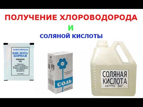 Получение соляной кислоты из электролита