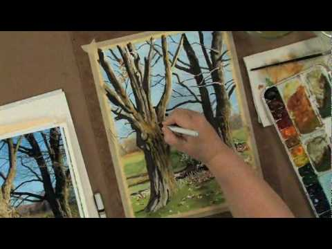 Painting Trees in Watercolor, Pen &amp; Ink with Claudia Nice