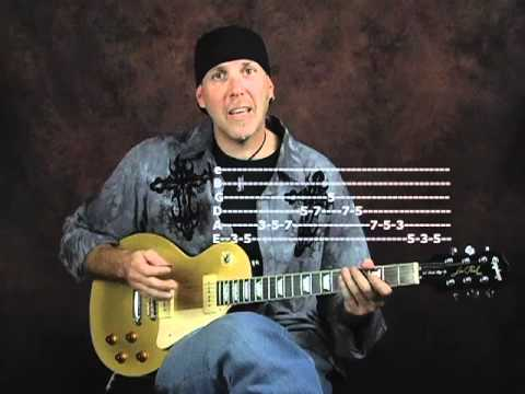 Rock blues lick of week with pentatonic scale using Epiphone Les Paul Goldtop