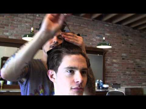 Daniel Alfonso at Baxter Finley - Scissor cut & Taper with Andrew Phillips - Mens Hairstyles