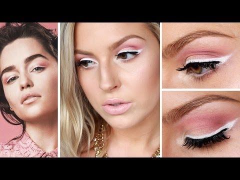 Emilia Clarke Inspired Spring Makeup ♡ White Eyeliner & Pink Eyeshadow - UCMpOz2KEfkSdd5JeIJh_fxw