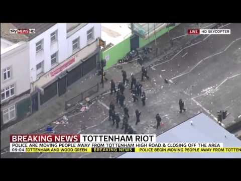 Tottenham, London Riots coverage | SKY News | 7th August 2011 | HD -GUxbLgZYHl4