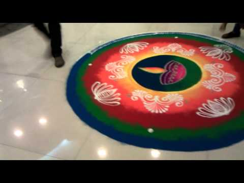 Rangoli Drawing at Sybase, Pune