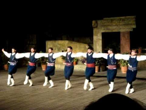 Traditional Greek dance at Dora Stratou theatre part 3