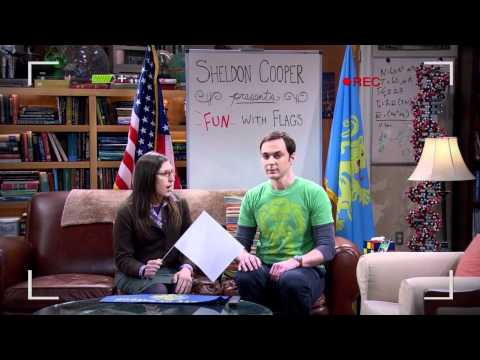 The Big Bang Theory - Sheldon Cooper presents FUN with Flags [HD]